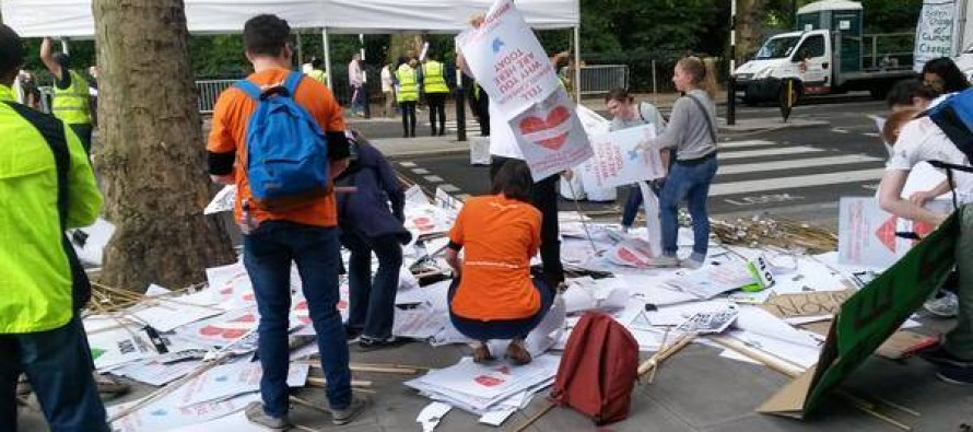 PICTURES: Far Left Climate Change Geeks Leave Mountain of Trash for Cities to Deal With