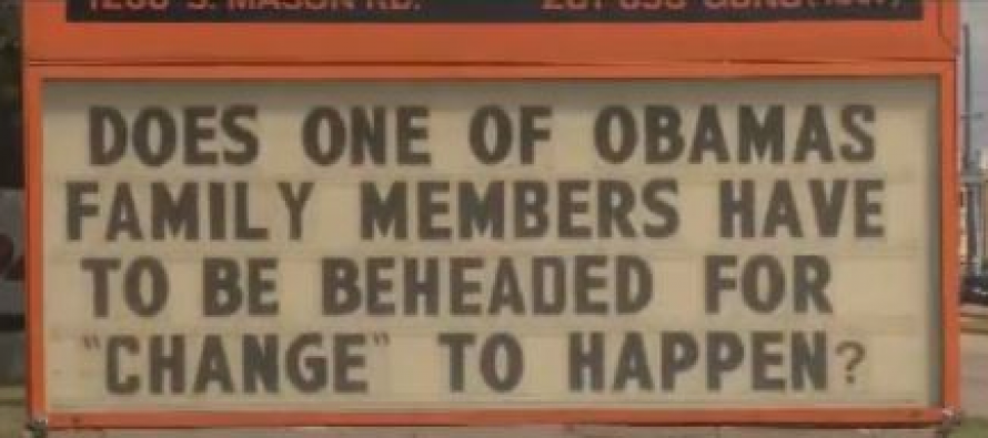 Texas Gun Show Owner Says He Will NOT Take Down His Anti-Obama Sign
