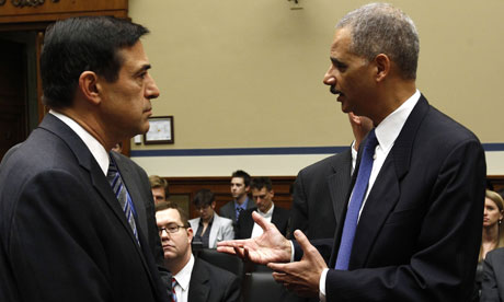 Eric Holder with Darrell Issa