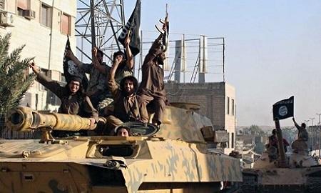 Islamic State fighters in Raqqa, Syria