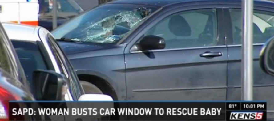 VIDEO: Woman SAVES Baby's Life , Ignored Warnings Not To Break Window