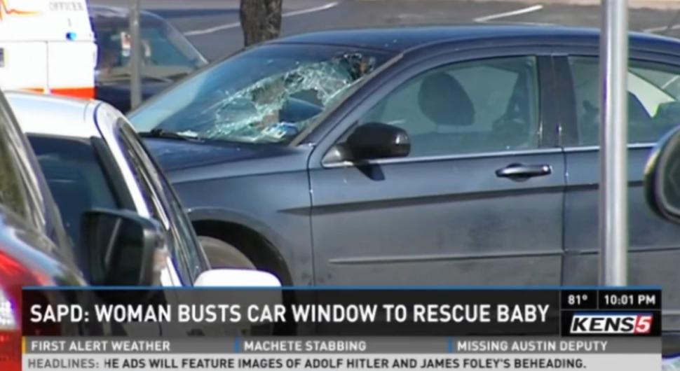 woman-breaks-windshield-rescue-baby-car