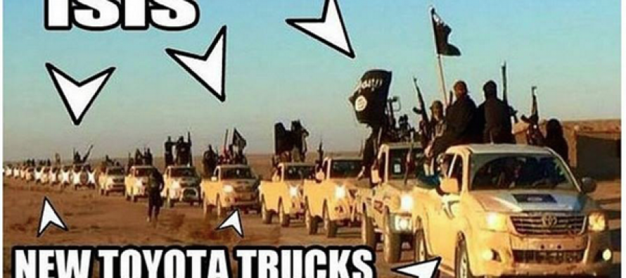 Obama Talks Big While ISIS Drives Around Syria in Taxpayer Purchased Toyota Hilux Trucks