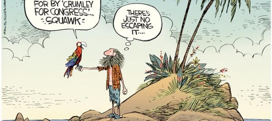 Crumley for Congress (Cartoon)