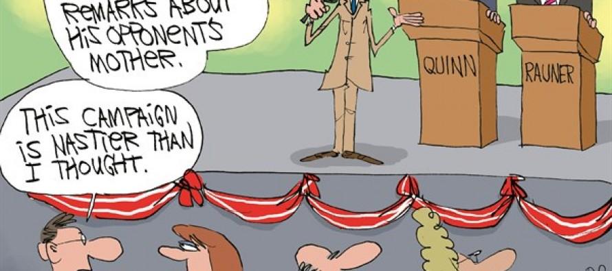 LOCAL-IL Quinn vs Rauner (Cartoon)