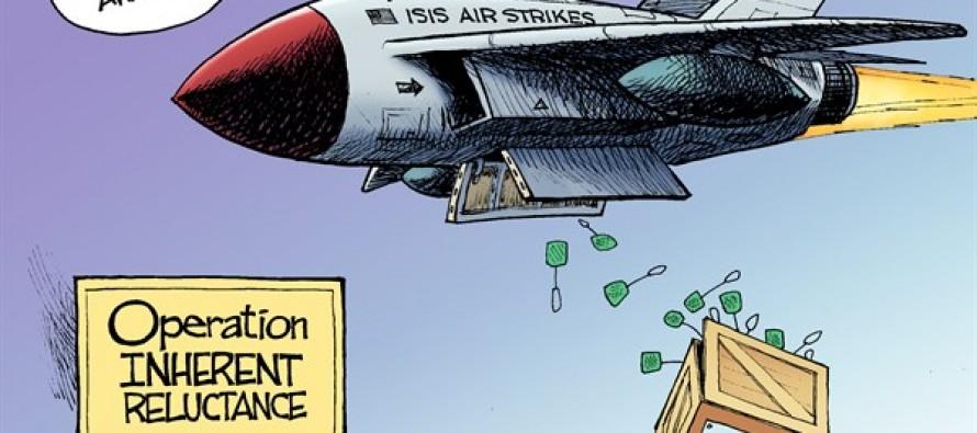 Bombing ISIS (Cartoon)