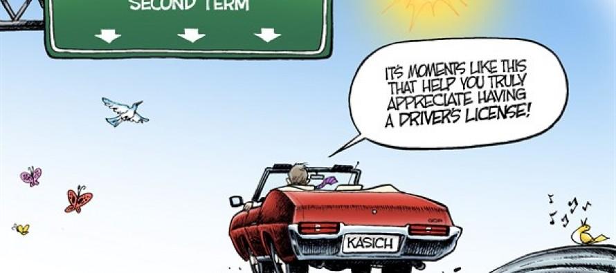 LOCAL OH – Cruising Kasich (Cartoon)