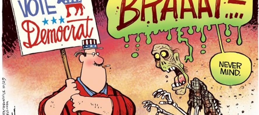 Democrat Zombie (Cartoon)