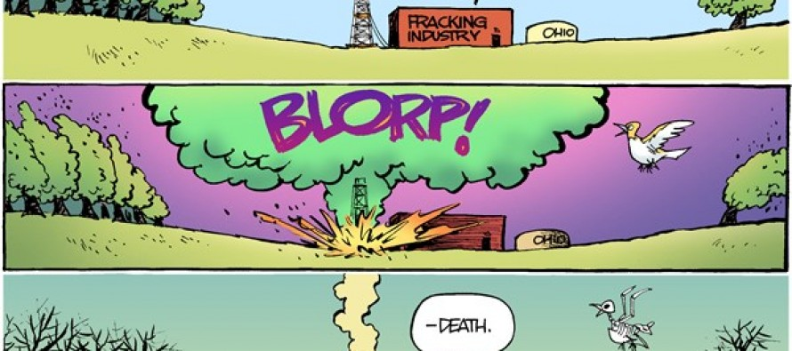 LOCAL OH – Fracking Blowout (Cartoon)