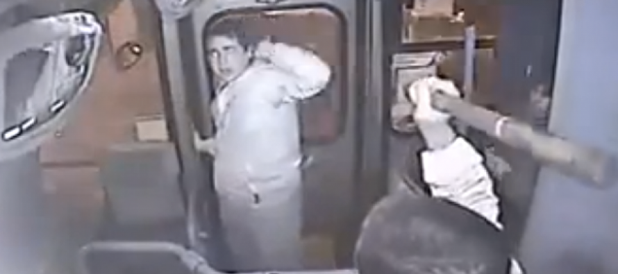 VIDEO: Purse snatcher gets severely beaten by bus driver