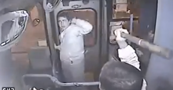 Chilean bus mugger