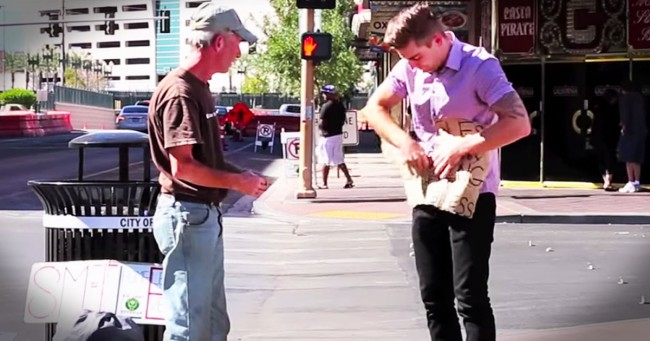 homeless vet and magician