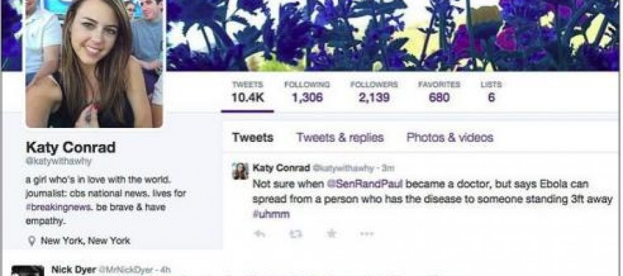 """Not Sure When @SenRandpaul became a Doctor…"" Young CBS Producer Deletes Mocking Tweet of Rand Paul's Medical Opinion"
