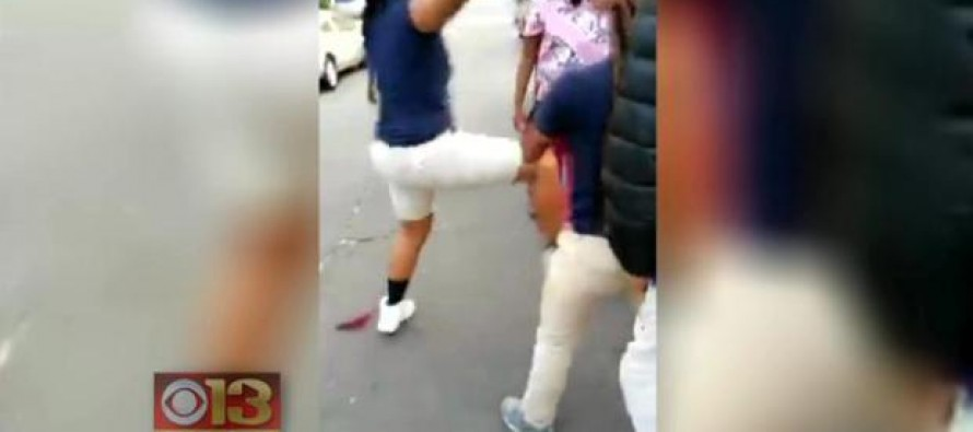 VIDEO: Black teen on her way to job interview is beaten and robbed by female gang