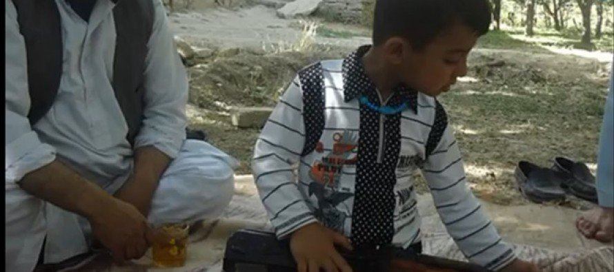 Reporter From the BBC Threatened By Taliban Toddler With AK-47