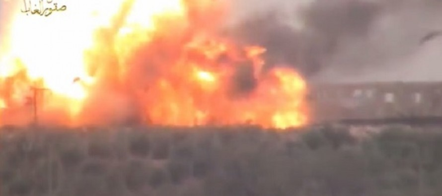 VIDEO: TOW Missile Causes Giant Secondary Explosion