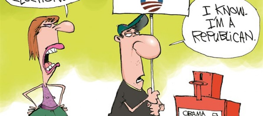 Vote Obama 2014 (Cartoon)
