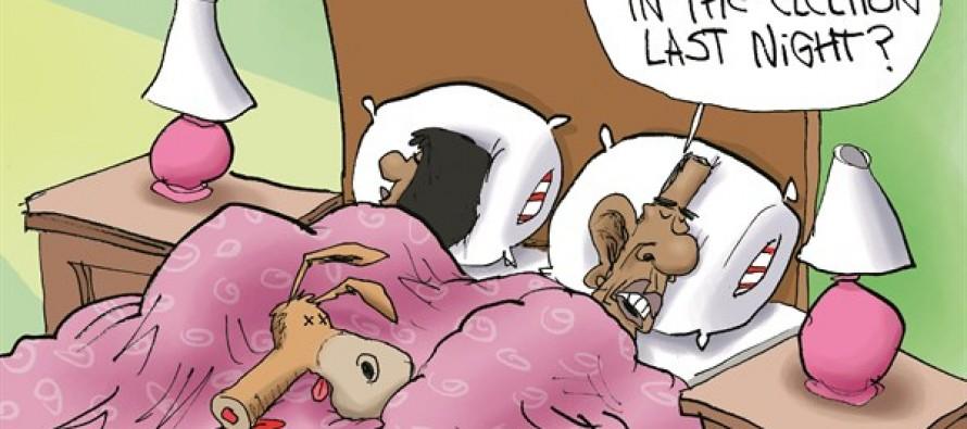 Democrats Defeated (Cartoon)