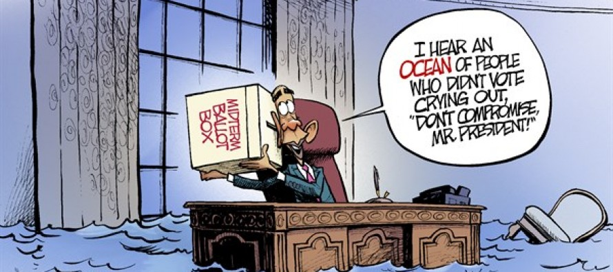Obama Hears Voices (Cartoon)