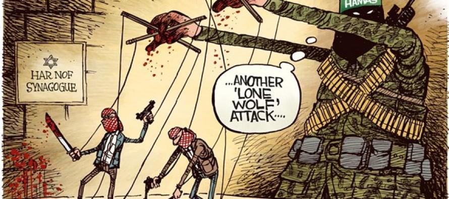 Synagogue Attack (Cartoon)