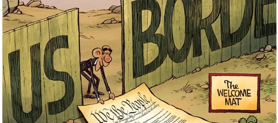 Obama Welcome Mat (Cartoon)