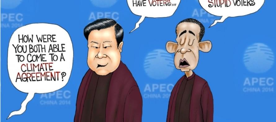 Climate Agreement (Cartoon)