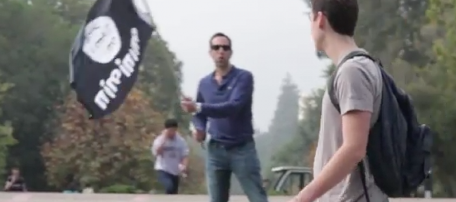[SHOCKING VIDEO] ISIS and Israel Flags Flown on College Campus – the Reactions are STUNNING!