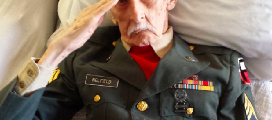 He Was a 98-Year-Old Veteran. A Picture Taken of Him Just One Day Before Death Has Moved America