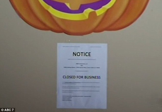 Sign proclaiming Spring Valley 'Closed for Business' - While Residents Remained Inside