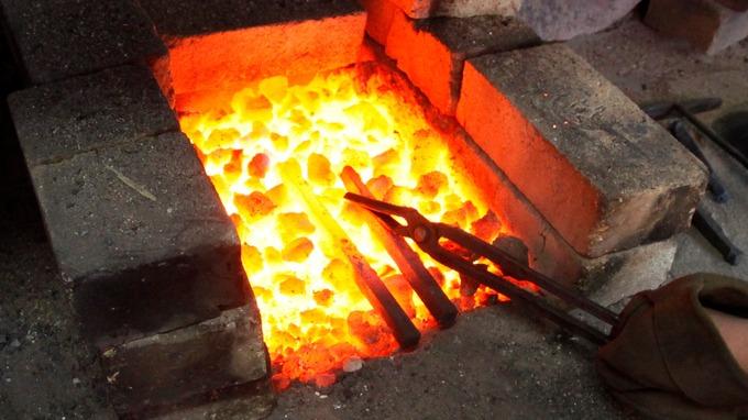 flaming coals