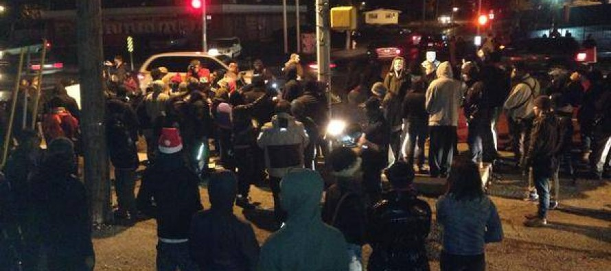 "VIDEO: Ferguson Protesters Scream ""F*ck You!"" and ""Honkey!"" at Police Officers"