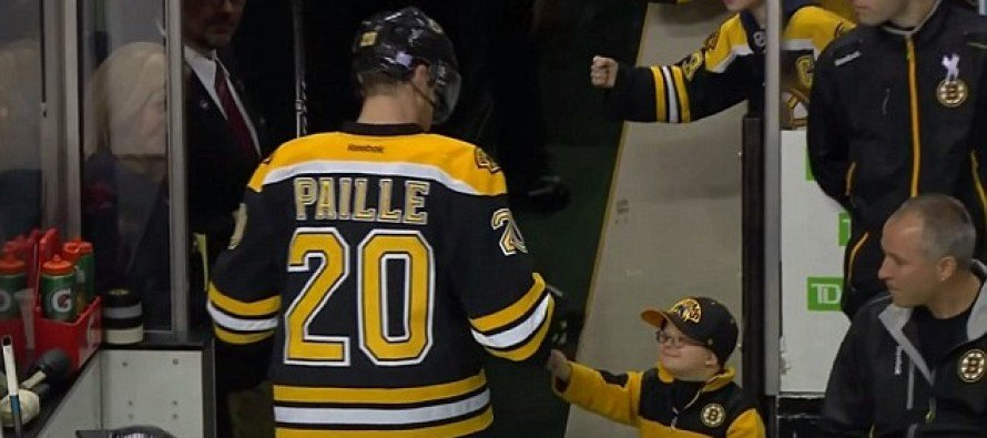 VIDEO: Tiny Boston Bruins Fan Who Has Down Syndrome and is Recovering From Cancer Adorably Fist Bumps All the Players