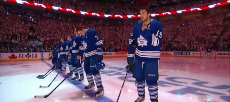 VIDEO: An INCREDIBLE Display of Respect For America: Toronto Maple Leafs Fans Sing National Anthem After Mike Fails