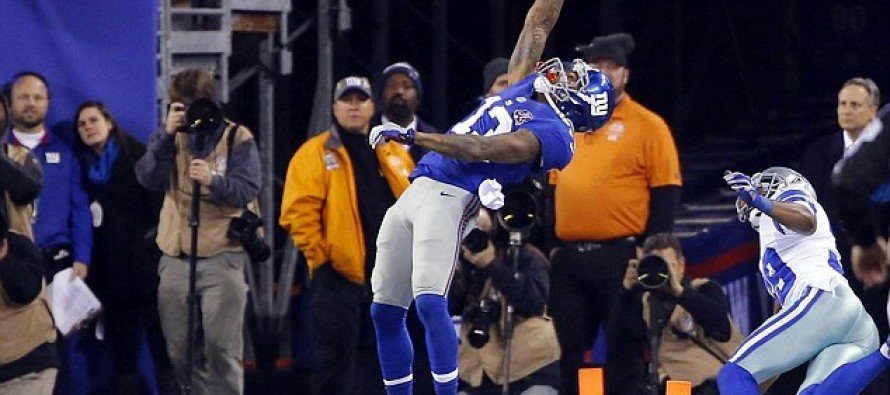 AMAZING VIDEO: 'The greatest catch of all time' new NFL star is born as the Giants' Odell Beckham Jr defies gravity on Sunday Night Football