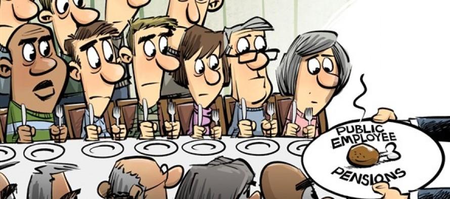 Public pensions (Cartoon)
