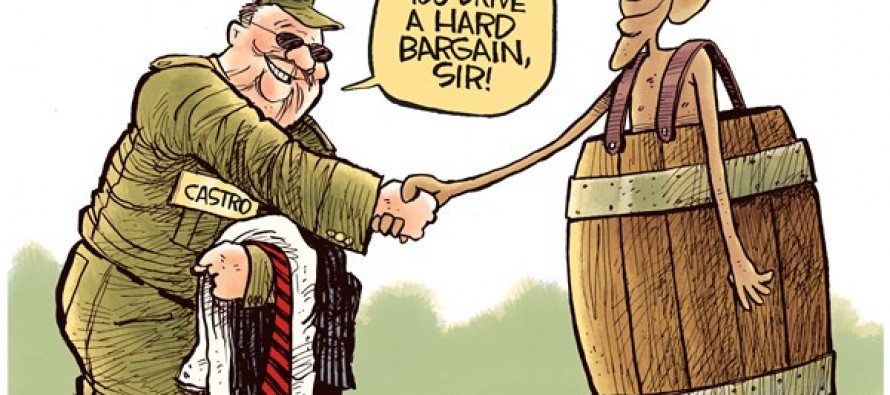 Obama and Castro (Cartoon)
