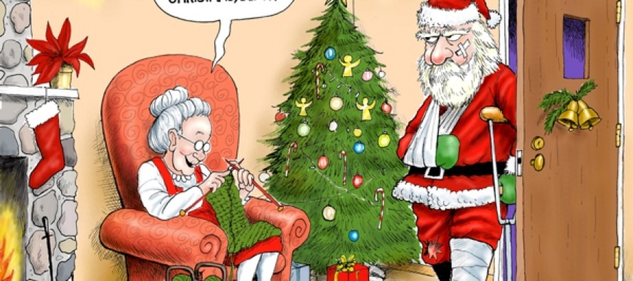 Losing the war on Christmas (Cartoon)