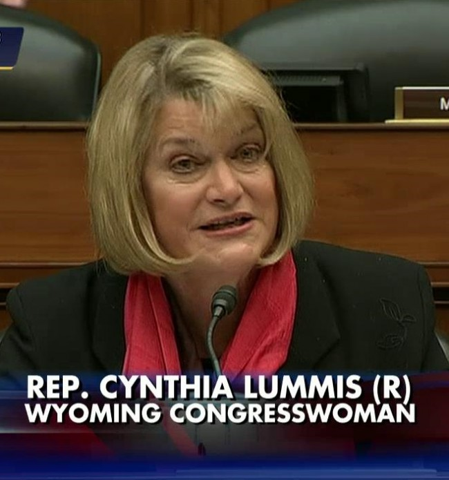 Congresswoman Cynthia Lummis (R)
