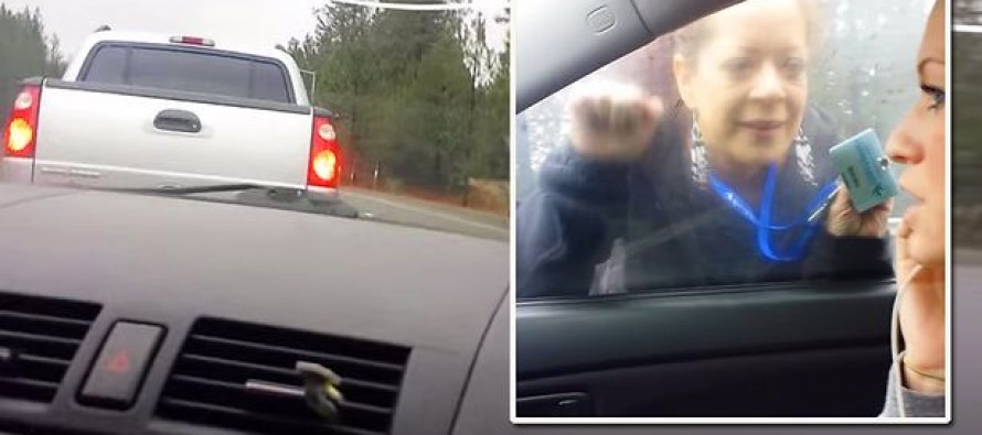 Watch SHOCKING Video Footage: This 'serial road rage driver poses as cop' THEN 'slams into vehicle'