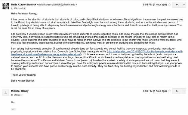 della email