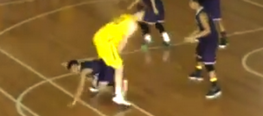 [VIDEO] Guam Basketball Player Goes Through Opponent's Legs to Try to Play Defense