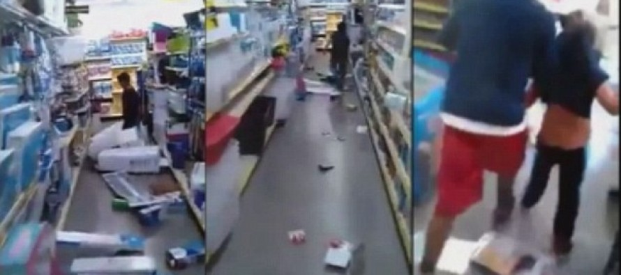 VIDEO: Kid Destroys Dollar Store While Random Idiot Films it on His Cameraphone