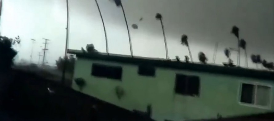 VIDEO: Tornado Tears Through LA Suburb