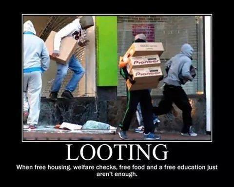 looting Ferguson