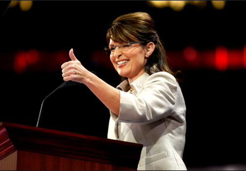 palin thumbs up