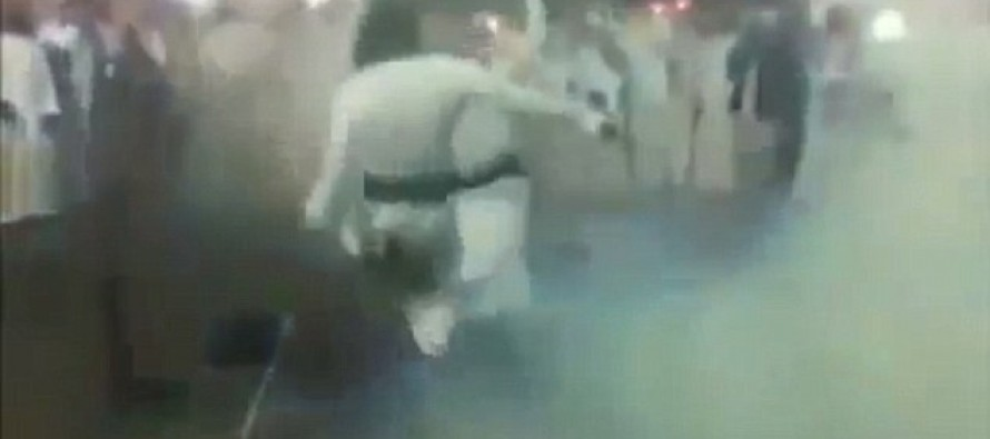 VIDEO: Saudi dancers' gun routine goes horribly wrong when he shoots himself in the backside by mistake