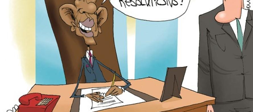 Obama's Resolutions (Cartoon)