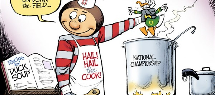 LOCAL OH – Buckeyes vs Ducks (Cartoon)
