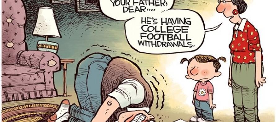 Football Withdrawals (Cartoon)