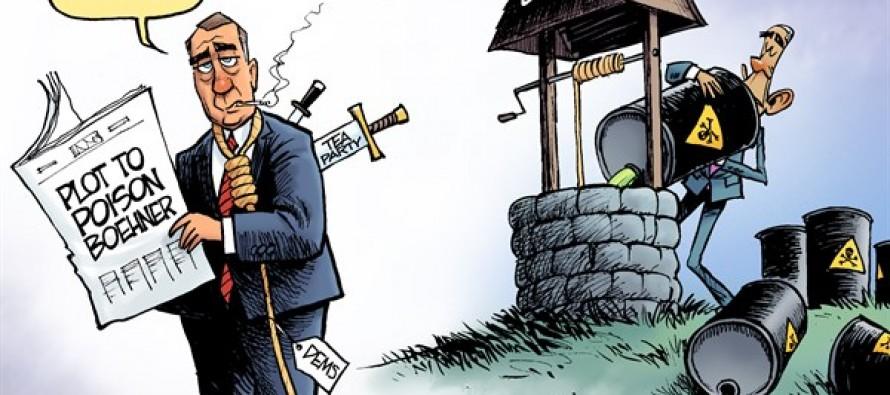 Poisoning Boehner (Cartoon)